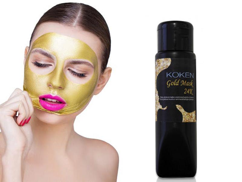 KOKEN Gold - pleťová maska s 24k zlatem
