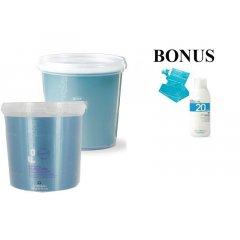 AKCIA: 2x - Fanola Polvere decolorante blue a Polvere decolorante violet- modrý a fialový zosvetľovací systém 500 g + peroxid 6% 1000 ml + pláštenky, 30 ks