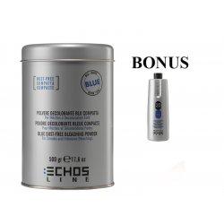 AKCIA: ECHOSLINE Polvere decolorant BLUE compact - modrý, bezprašný melírovací prášok, 500g + peroxid 6%, 1000 ml