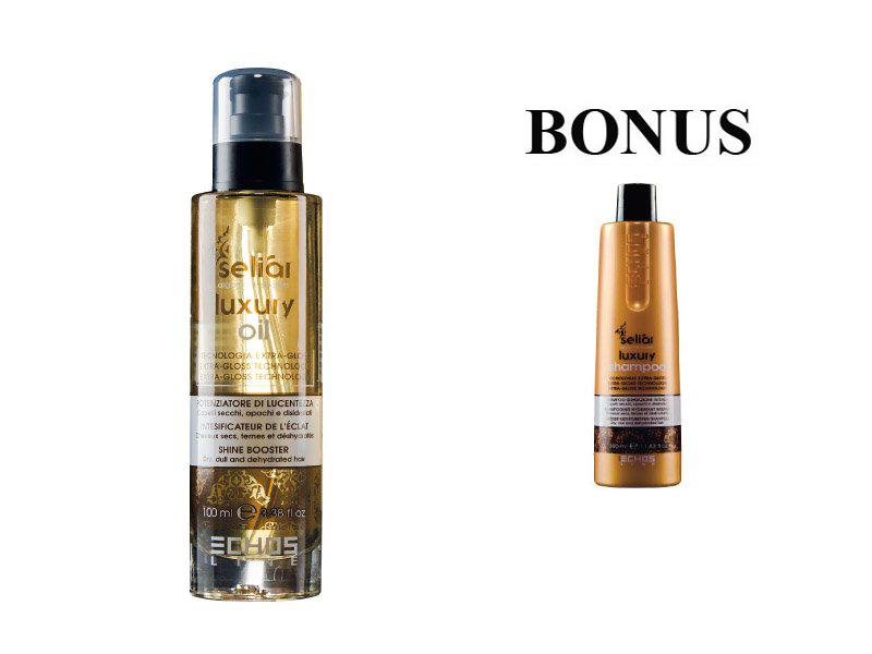 AKCIA: Echosline Seliár Luxury - olej pre intenzívnu hydratáciu, 100 ml + šampón, 350 ml