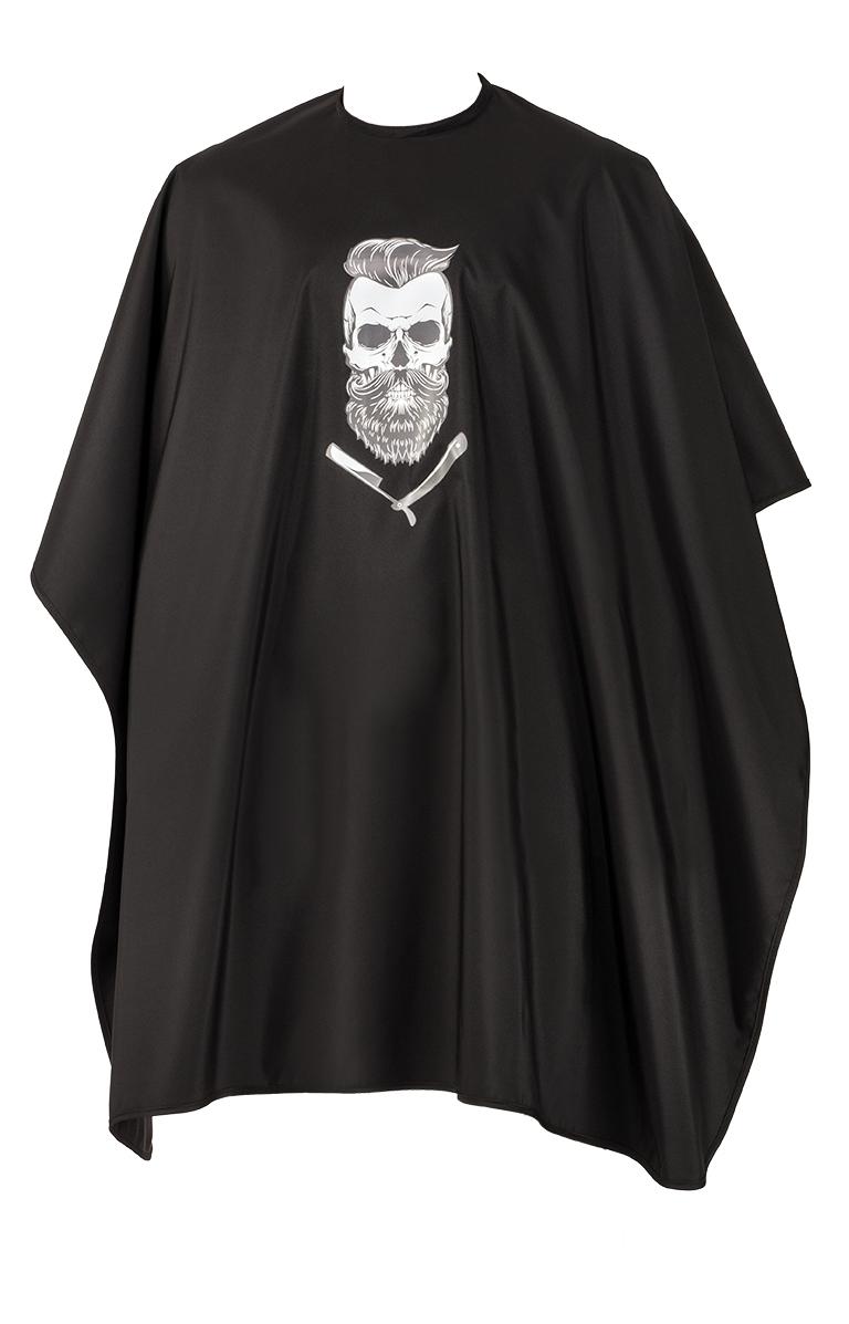 Comair Cape Barber Skull 7001272 - holičská pláštenka, s háčikmi