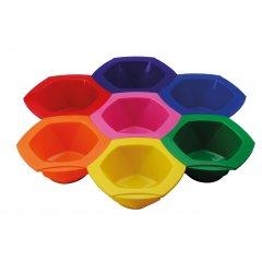 Comair Dyeing bowl Rainbow 7001240 - súprava farebných misiek na farbenie, 7 ks