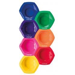 Comair Dyeing bowl Rainbow large 7001285 - súprava veľkých farebných misiek na farbenie, 7 ks