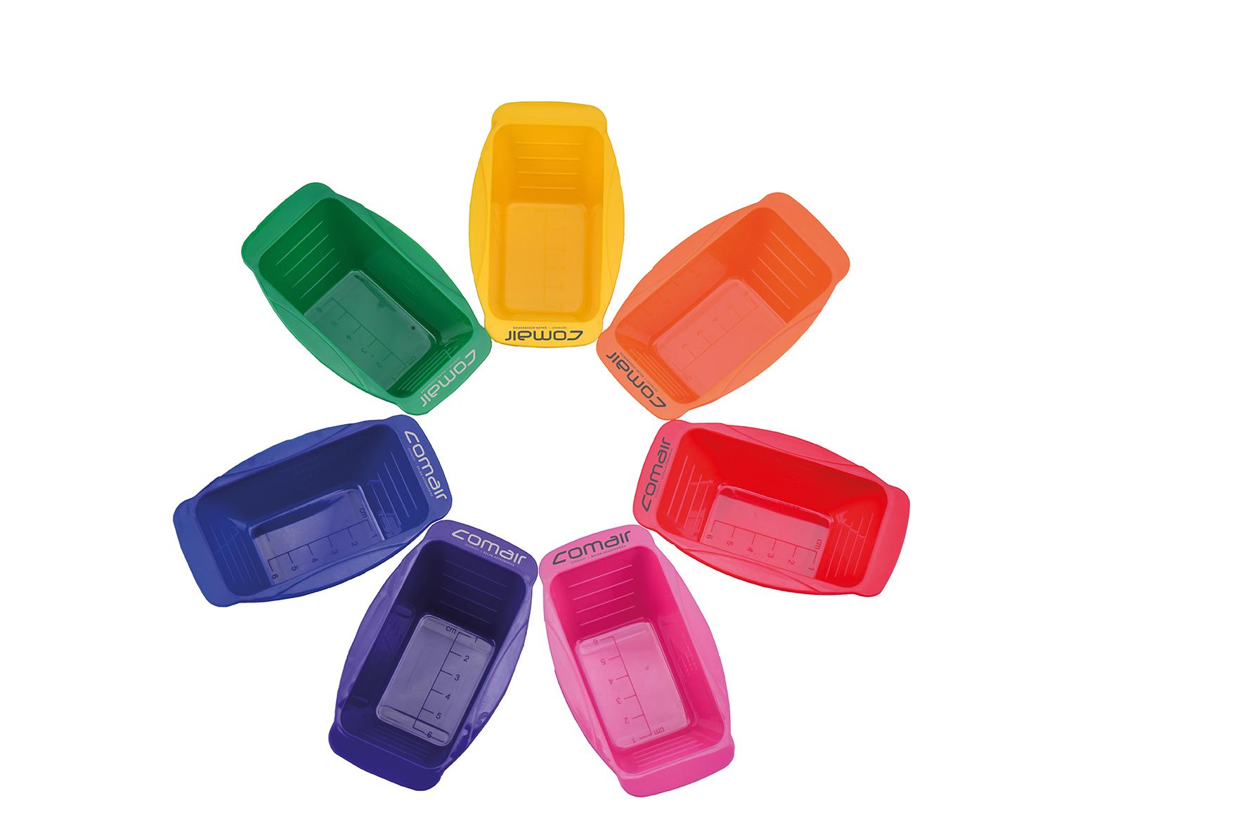 Comair Dyeing bowl Rainbow mini 7001257 - súprava malých farebných misiek na farbenie, 7 ks