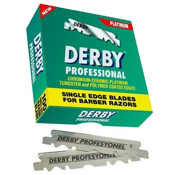 DERBY - Professional - Platinum 02955 - Náhradní žiletky, poloviční čepel, 100ks