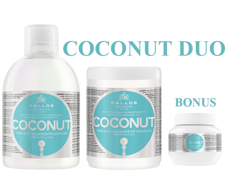 Kallos COCONUT DUO - šampón+maska
