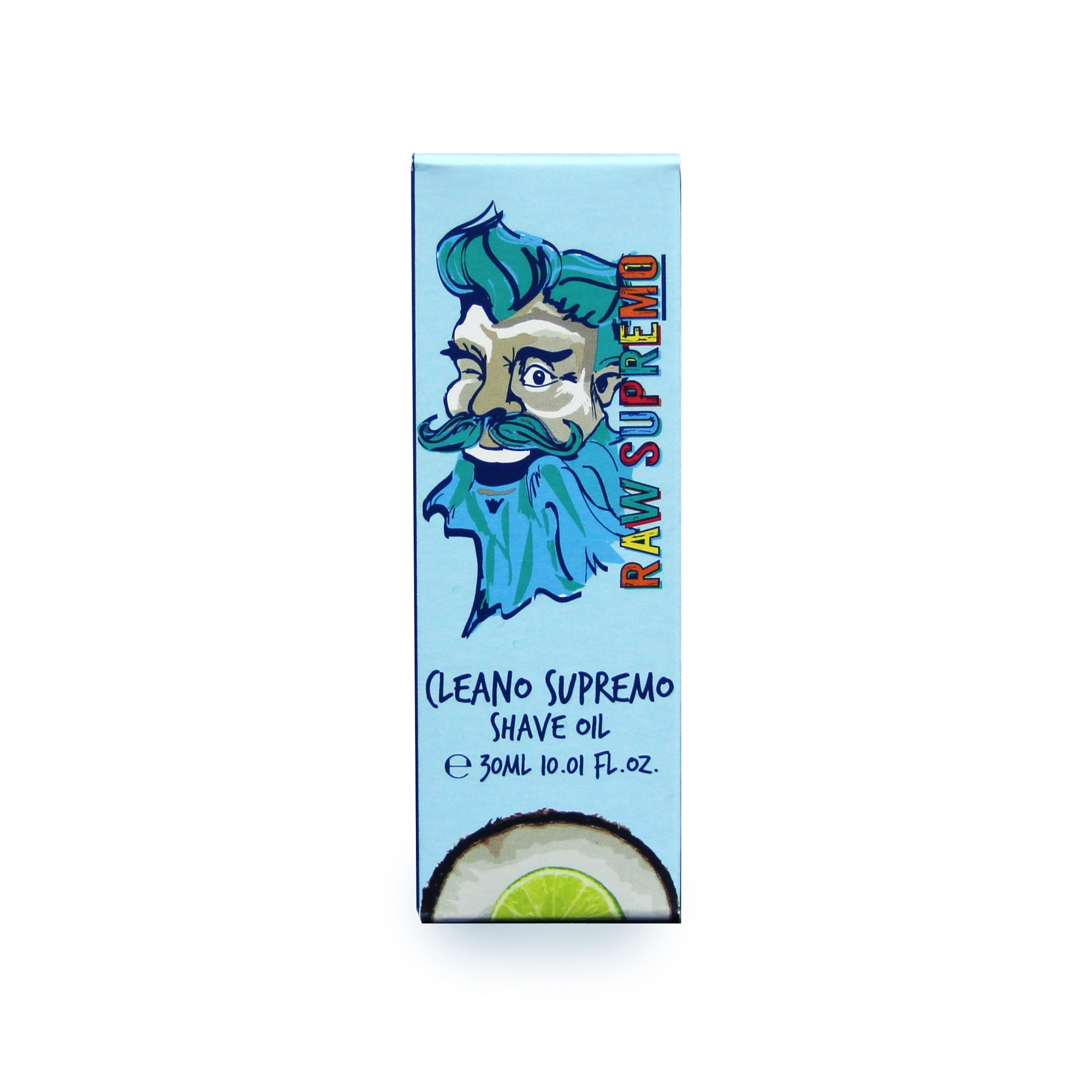 Raw Supremo - Cleano Supremo Shaving Oil - Olej na holenie, 30ml