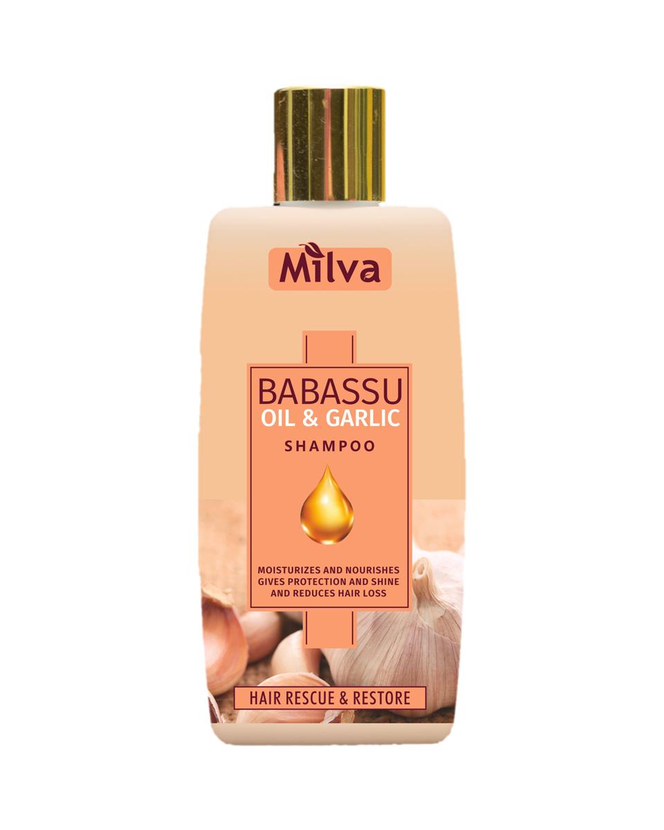 Milva Babassu Oil and Garlic Shampoo - šampón s extraktom cesnaku a babassového oleja, 200 ml