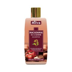 Milva Macadamia and Quinine Shampoo - šampon s makadamiovým olejem a chininem, 200 m
