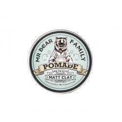 Mr. Bear Family Pomade Matt Clay - Matná hlina pre stredné držanie, 100ml