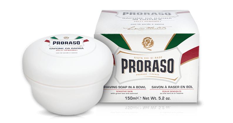 Proraso Shaving Soap in a Bowl Sensitive - holicí mýdlo pro citlivou pokožku v misce, 150ml