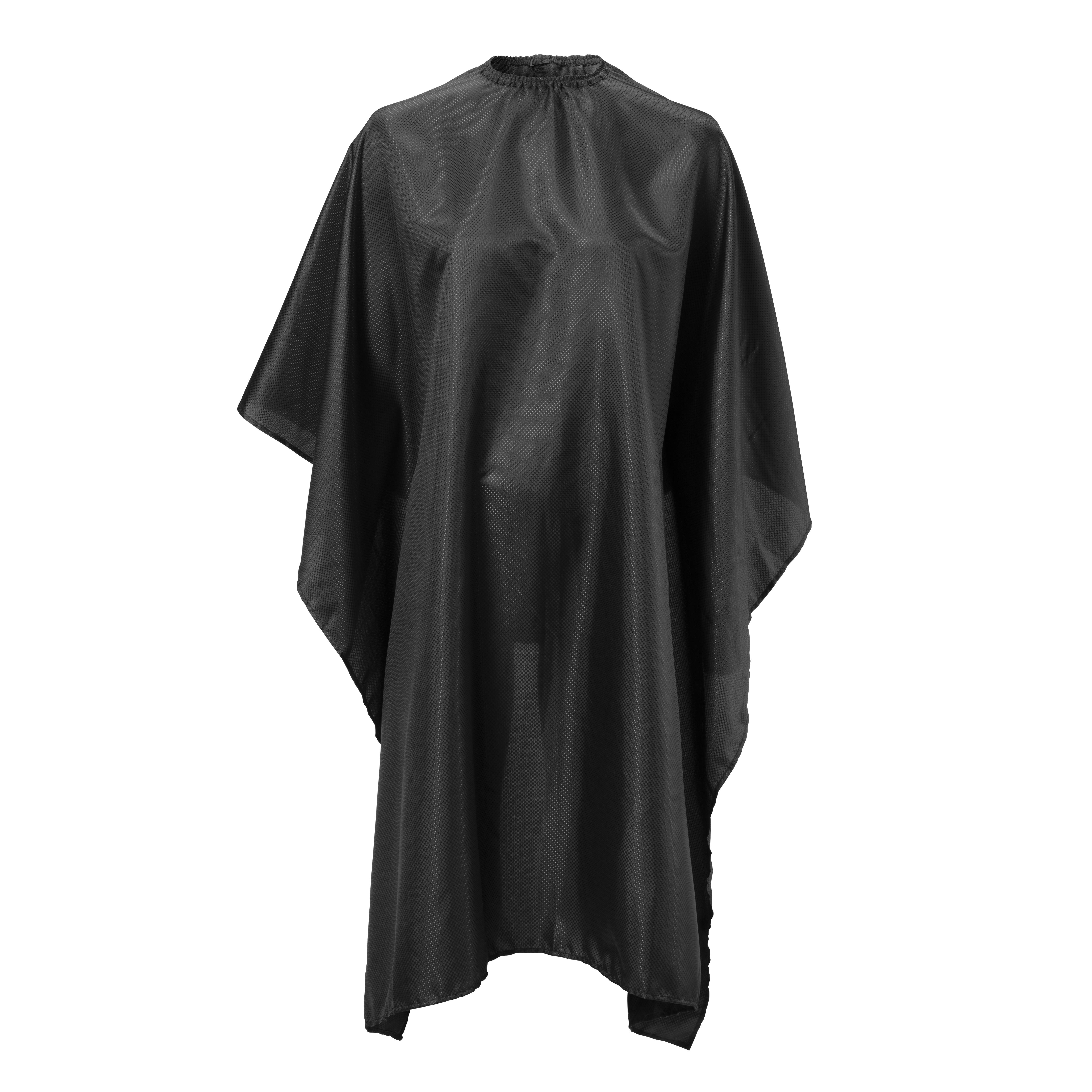 BraveHead Cutting cape black with dots 5475 - kadernícka pláštenka, na háčik