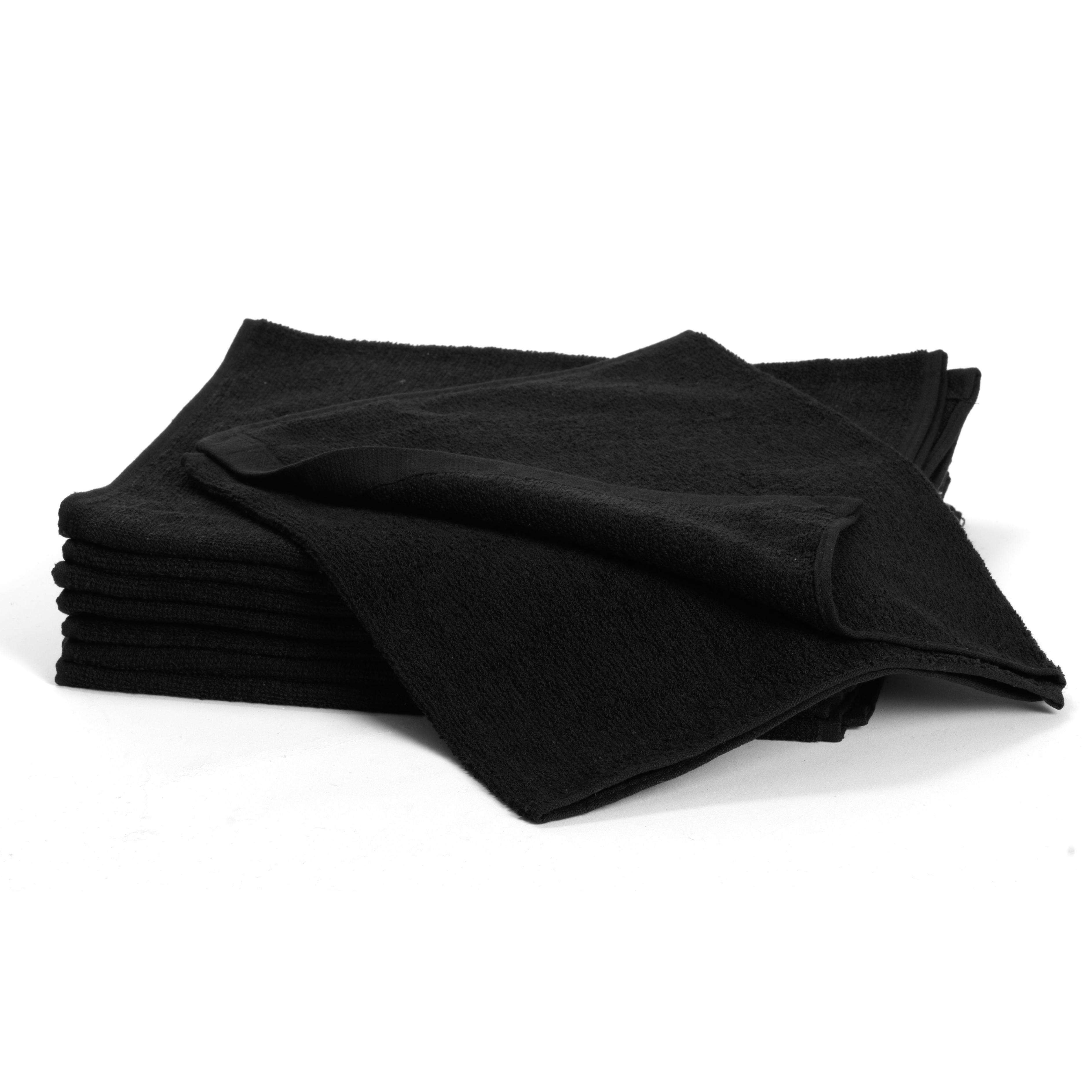 Cotton Towels, black 5097 - bavlnený uterák, čierny, 34 x 82 cm, 1 ks