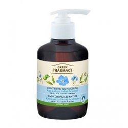 Green Pharmacy Aloe a olej z lněných semen - jemný čistící gel na obličej, 270 ml