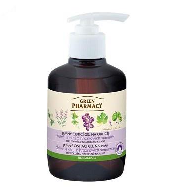 Green Pharmacy Šalvia a olej z hroznových semienok - jemný čistiaci gél na tvár, 270 ml