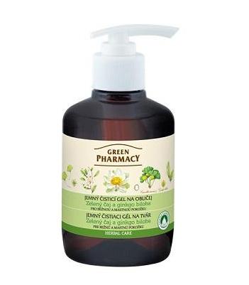 Green Pharmacy Zelený čaj a ginkgo biloba - jemný čistiaci gél na tvár, 270 ml