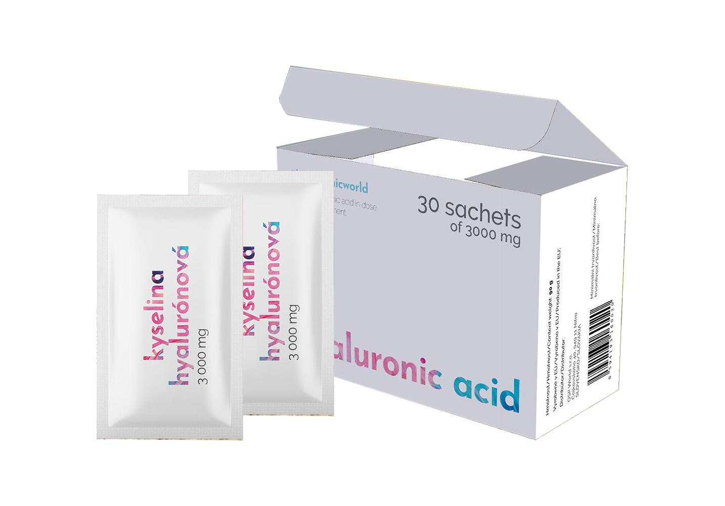 Hyaluronic Acid - Kyselina hyaluronová, 30x3000mg