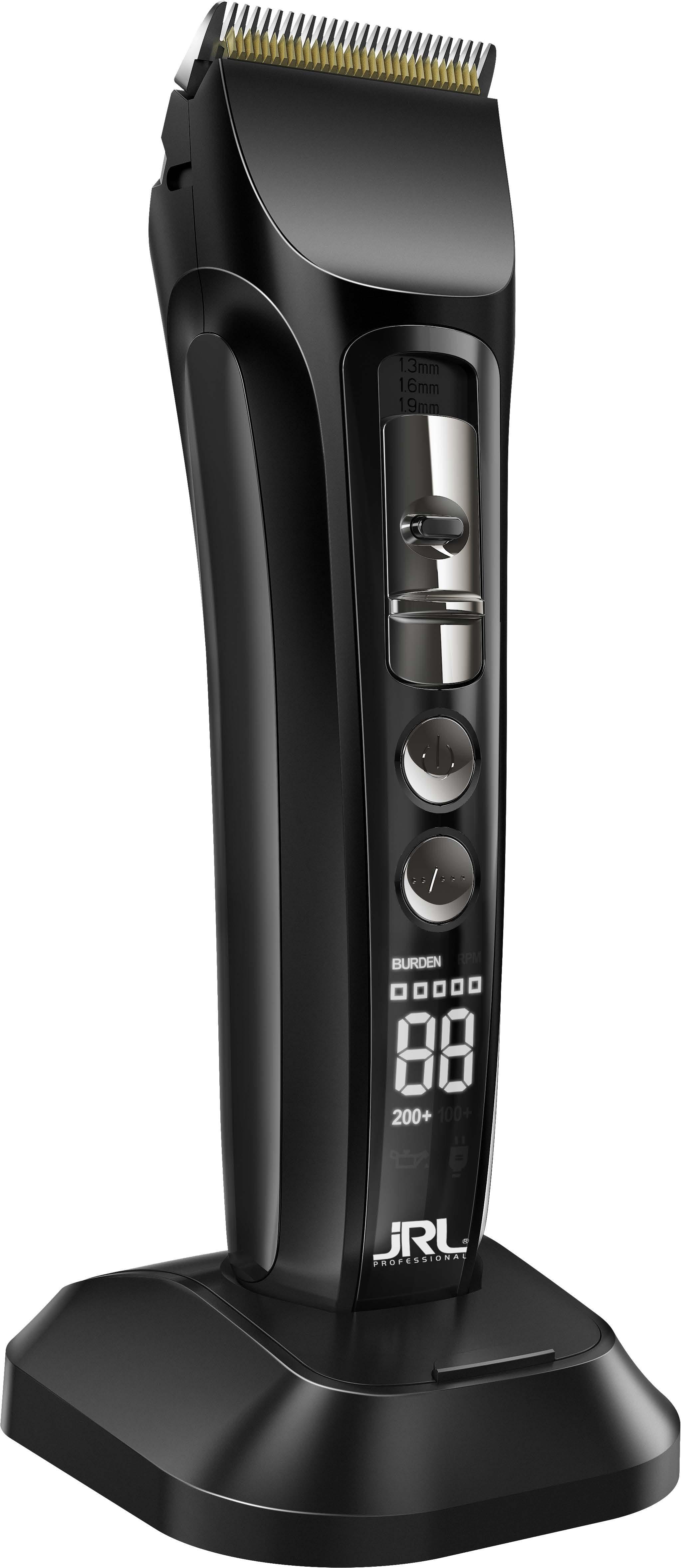 JRL Fresh Fade Clipper, black 1040 - profesionální akumulátorový strojek + Gembird - stlačený vzduch, 400 ml
