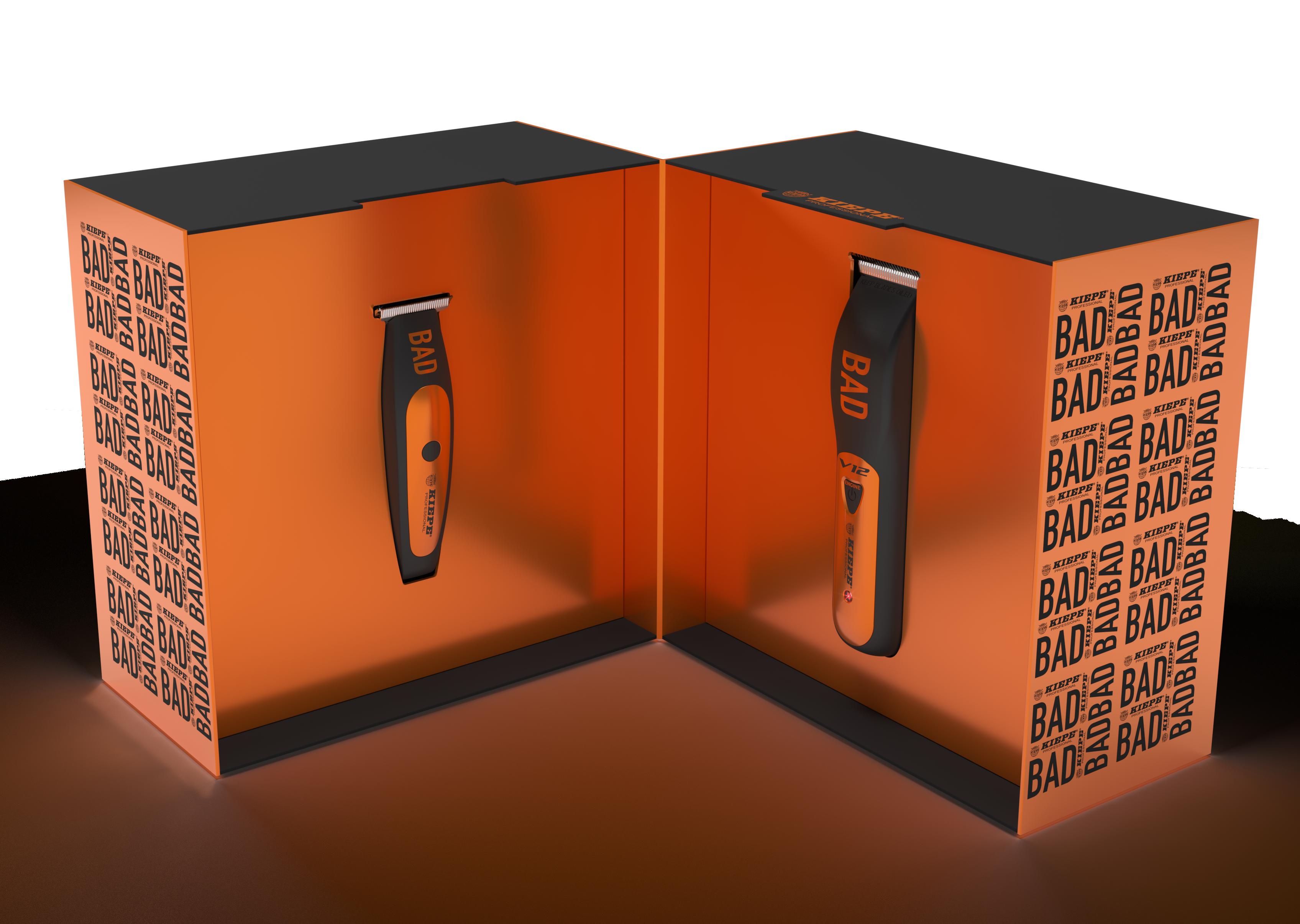 Kiepe BAD Combo set clipper 6355 - akumulátorový strojček V12 Superfast Clipper 6335 + akumulátorový kontúrovací strojček Zero Estremo T Hair EVO Trimmer 6330 + Gembird - stlačený vzduch, 400 ml