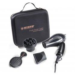 Kiepe Travel Kit Set Pure Rose Gold 8330 - mini fén na vlasy s příslušenstvím a kartáčem na vlasy, cestovní balení.