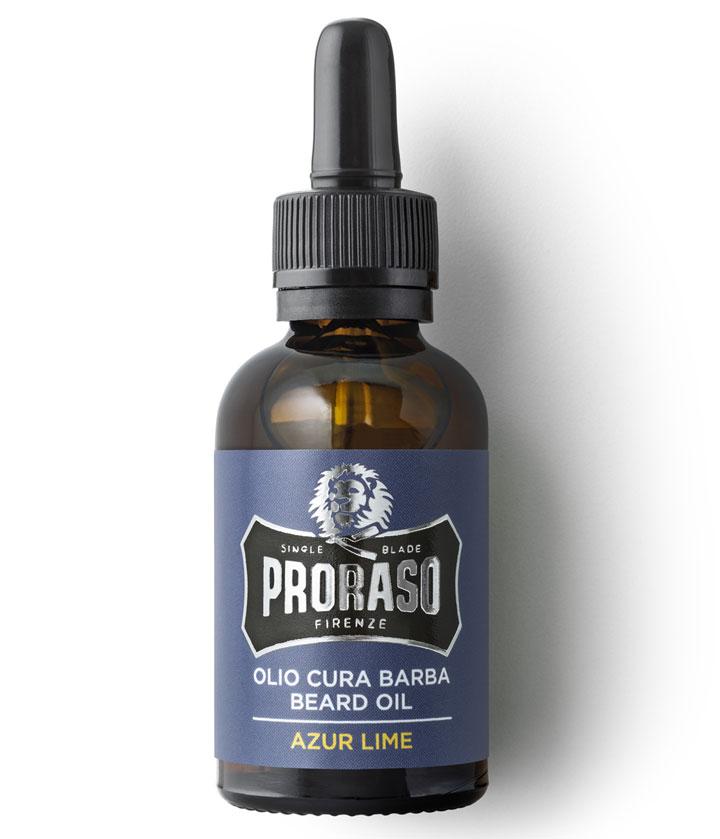 Proraso Beard Oil Azur Lime  - ochranný olej na bradu s vôňou limetiek a pomarančov, 30 ml