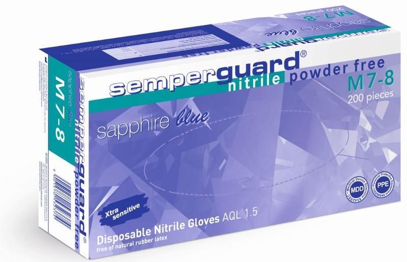 Semperguard Sapphire Nitril - nitrilové zafírovo modré rukavice
