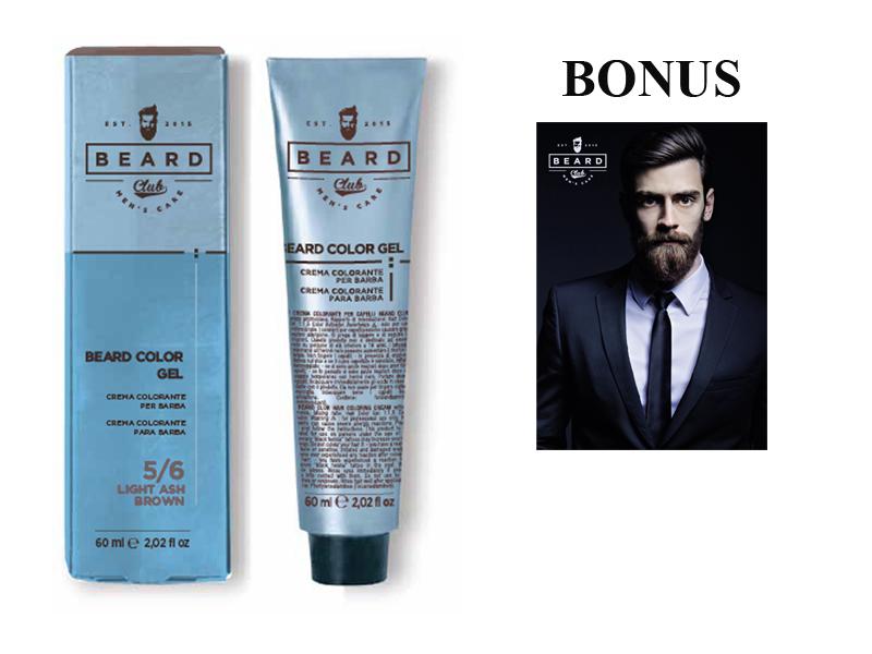 AKCE: 10 ks Beard Club Beard Color Gel - gelová barva na barvení brady, 60 ml + plakát Boy 66