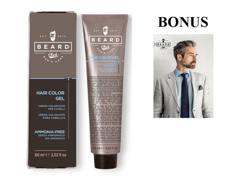 AKCE: 10 ks Beard Club Hair Color Gel - gelová barva na vlasy pro muže, 60 ml + plakát Man 67