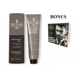 AKCIA: 10 ks Beard Club Hair Color Gel - gélová farba na vlasy pre mužov, 60 ml + vzorkovník