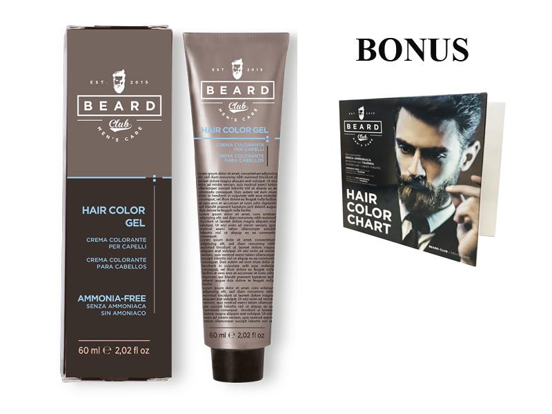 AKCE: 10 ks Beard Club Hair Color Gel - gelová barva na vlasy pro muže, 60 ml + vzorník