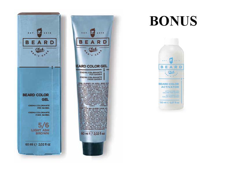 AKCE: 2 ks Beard Club Beard Color Gel - gelová barva na barvení brady, 60 ml + Beard Color Activator - oxidant na bradu, 150 ml