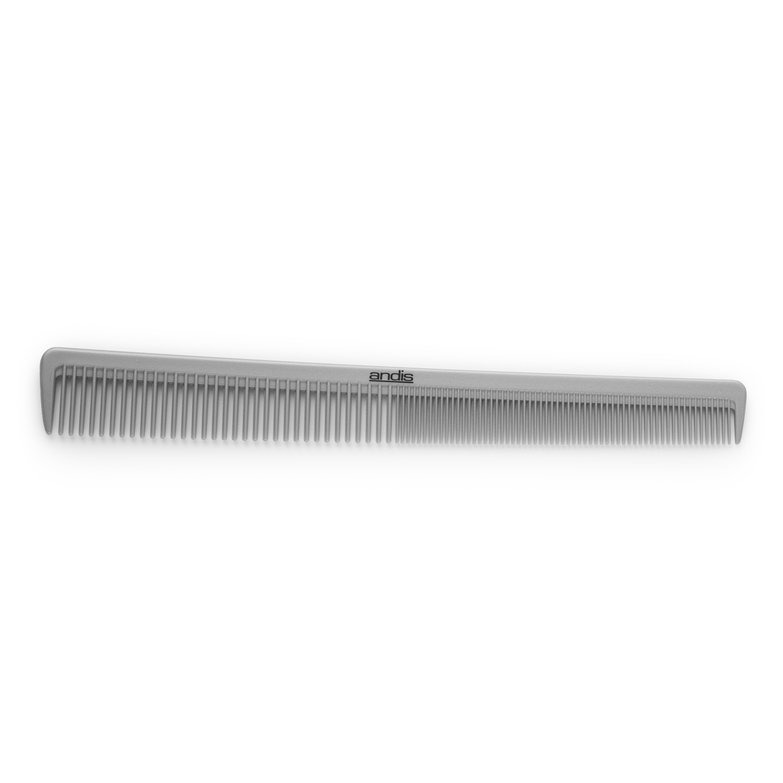 Andis 3932 Barber taperin comb, grey - holičský kombinovaný hřeben