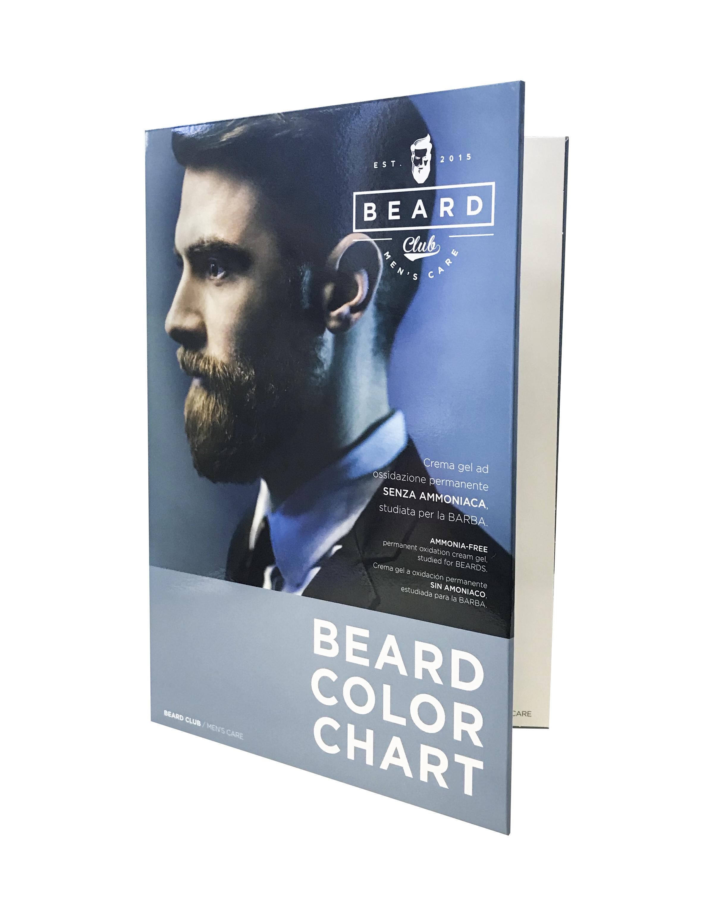 Beard Club Beard Color Gel - vzorník ke gelovým barvám na barvení brady