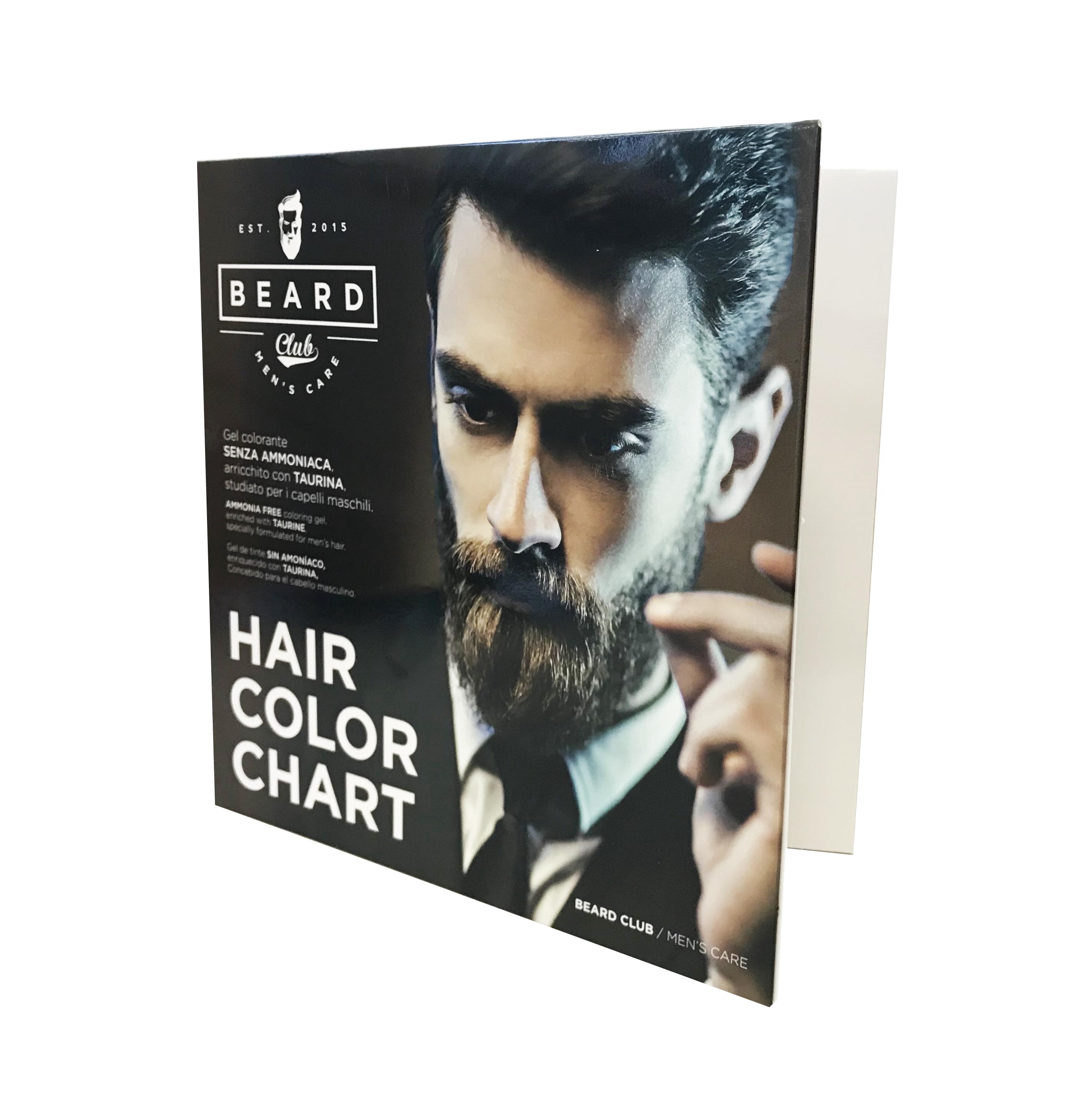 Beard Club Hair Color Gel - vzorkovník ku gélovým farbám na vlasy pre mužov