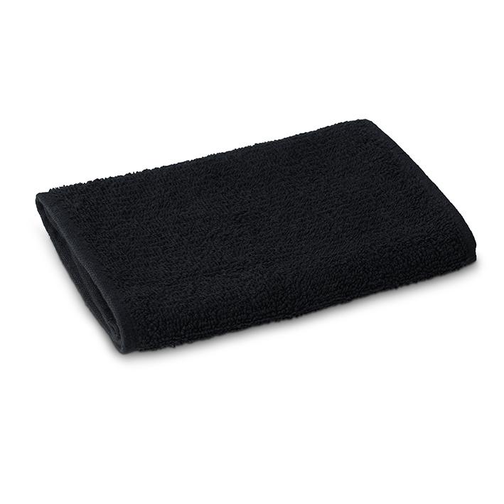 Eurostil 06413/50 Man Towel Black 100% Cotton - holičský bavlnený uterák, 20 x 65 cm