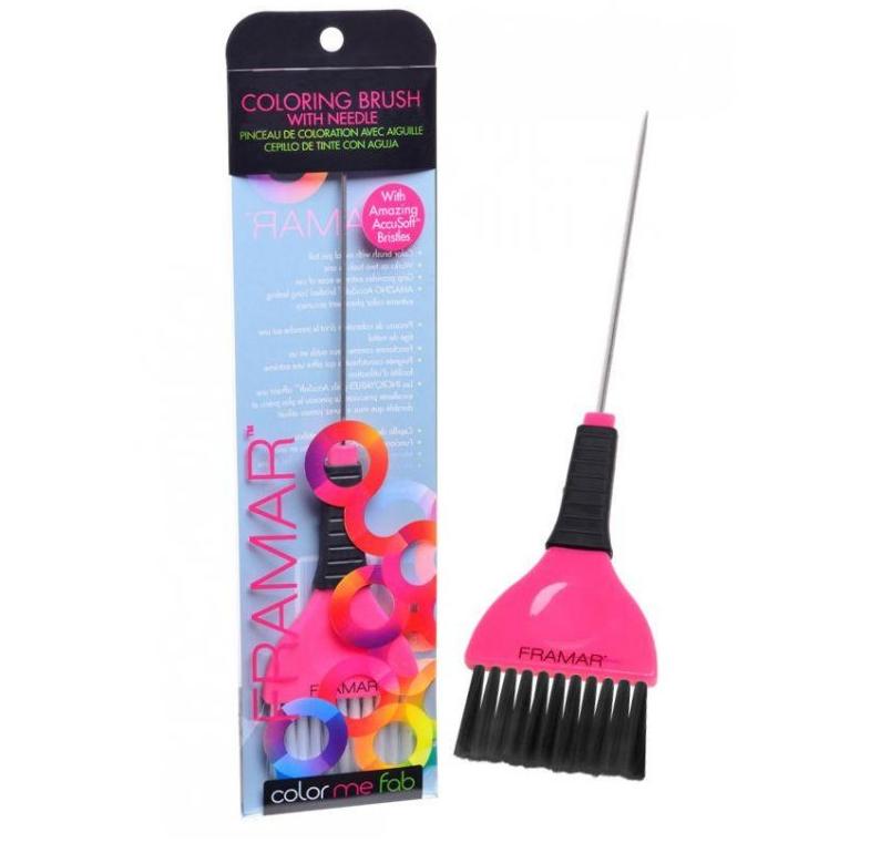 Framar HBNDL-PNK Needle Coloring Brush - široký štetec so špičkou, ružový