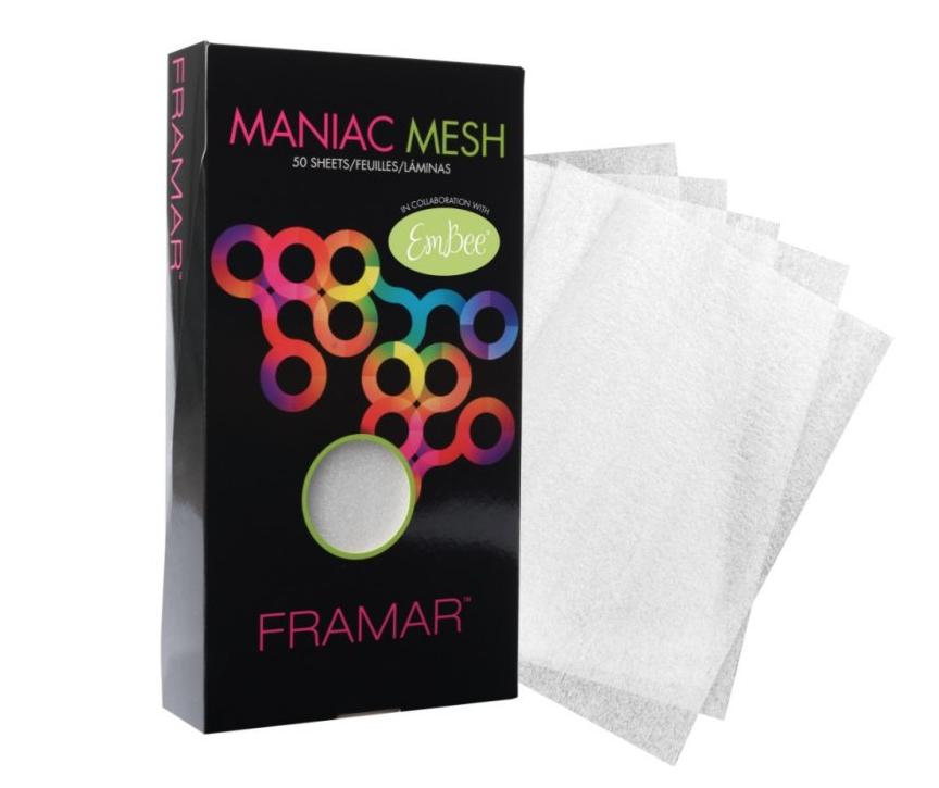 Framar MM-CLR Maniac Mesh - penová fólia 15×28 cm, 50 ks