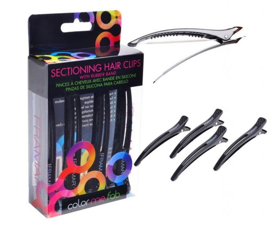 Framar SC-BLK Elastic Sectioning Clip - klipsy s protišmykovou gumičkou, čierne, 4 ks