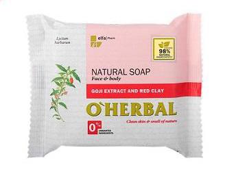 O`Herbal s extraktom Goji a červenou hlinou - prírodné mydlo,  100 g
