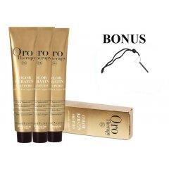 AKCIA: 10 ks Fanola Oro Therapy - profesionálna bezamoniaková farba na vlasy, 100 ml + kľúč na vytláčanie farby