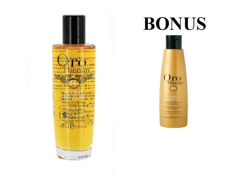 AKCIA: Fanola ORO PURO ELIXIR OIL - olej na vlasy 100 ml, + šampón Oro Puro, 300 ml
