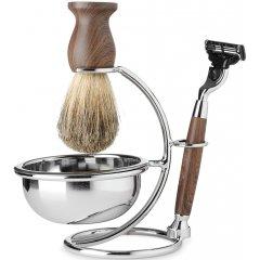 Barber Line Shaving Kit 06177 - sada na holenie - stojan, miska na holenie, štetka na holenie, strojček na holenie