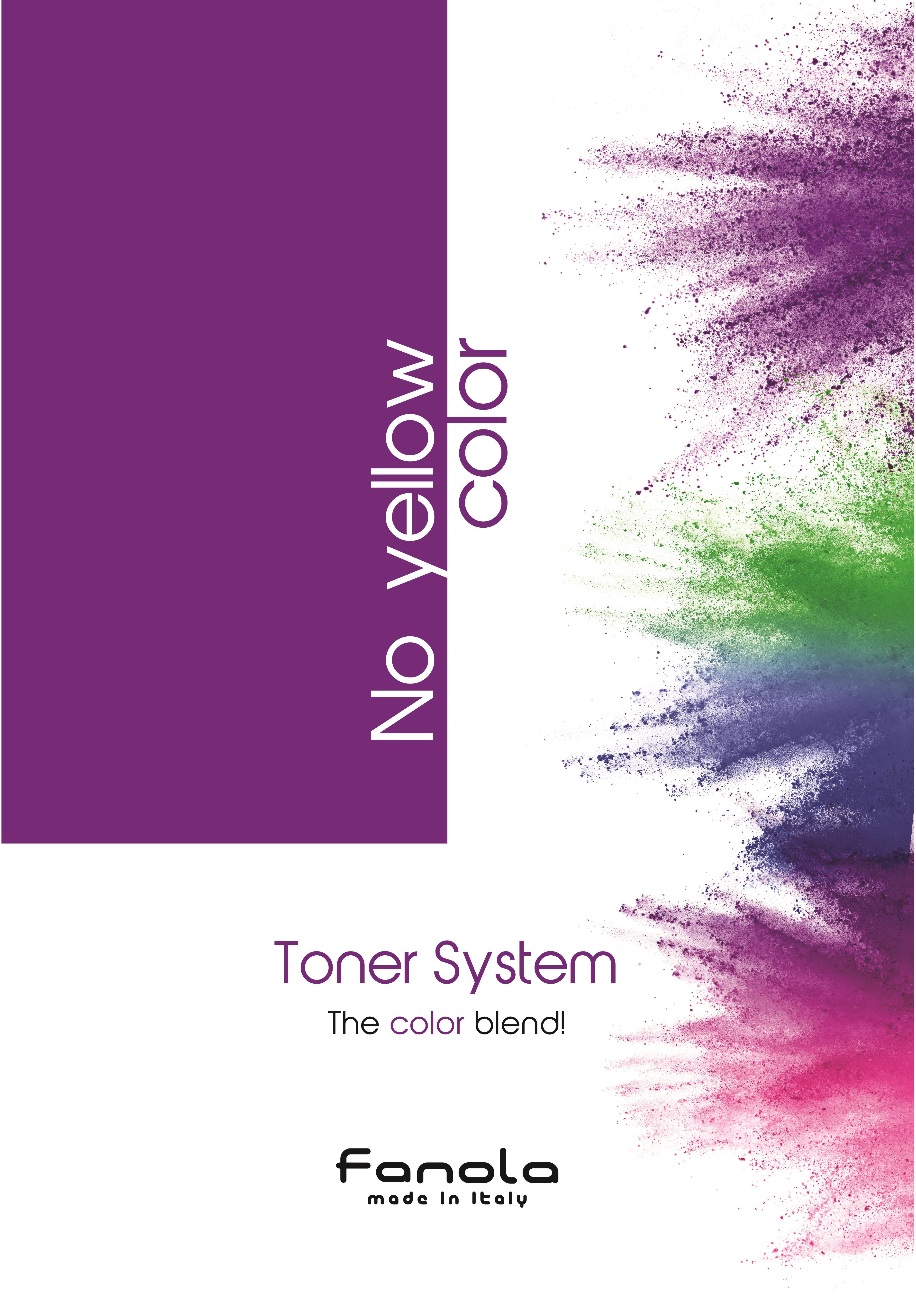 Fanola - vzorkovník k tonerom No Yellow Color Toner