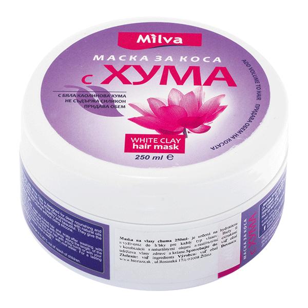 (EXP: 10/2020) Milva HUMA - hydratační maska s bílým jílem, 250 ml