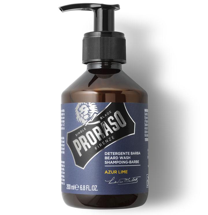 Proraso Beard Wash Azur Lime - šampon na bradu s vůní limetek a pomerančů, 200 ml