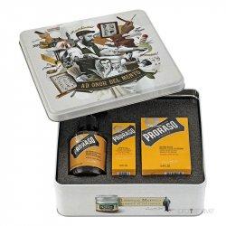 Proraso Komplet Beard Kit Wood and Spice - sada na bradu v plechovej krabičke s vôňou cédru a korenín
