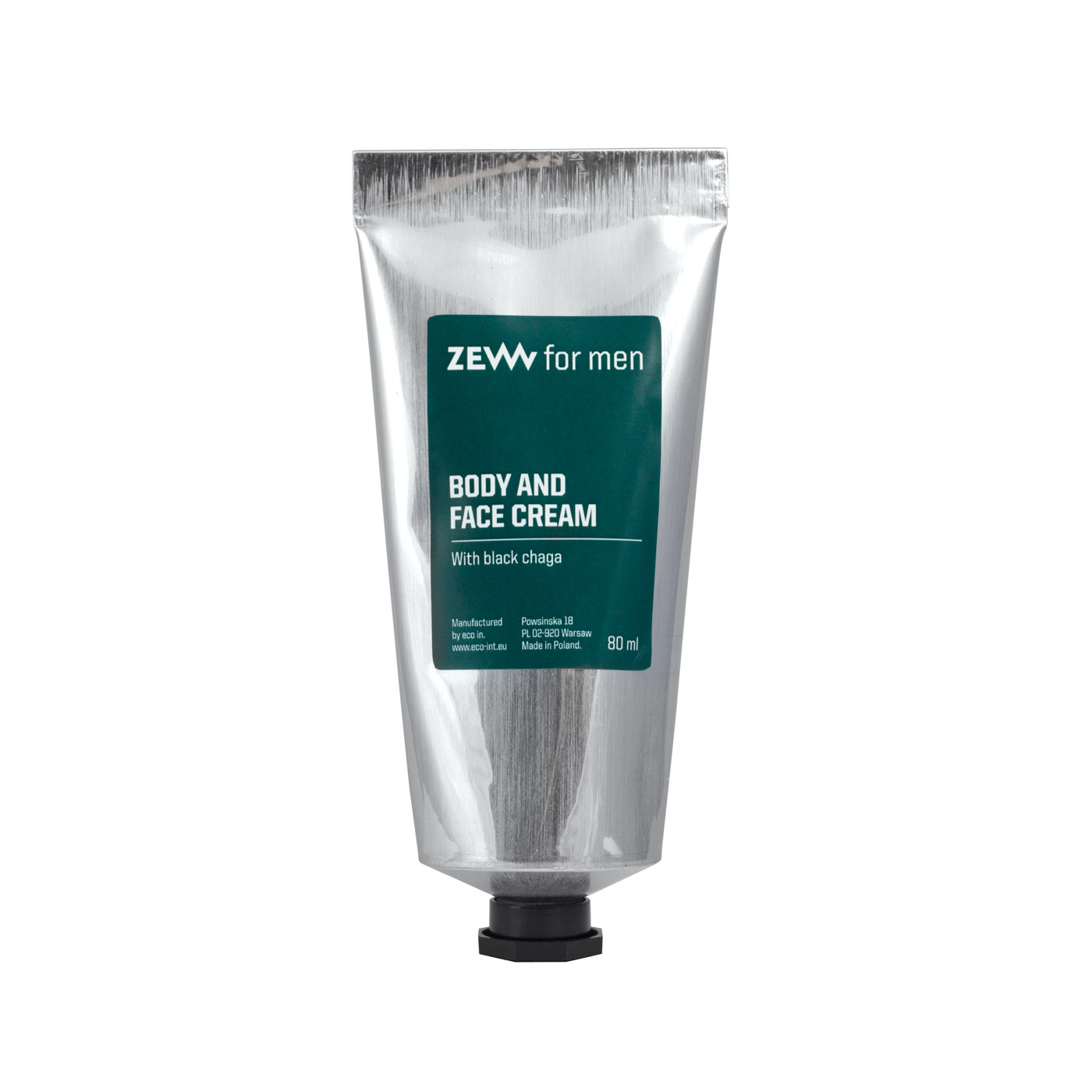 ZEW for men Face and Body Cream - krém na tvár a telo s hubou chaga, 80 ml