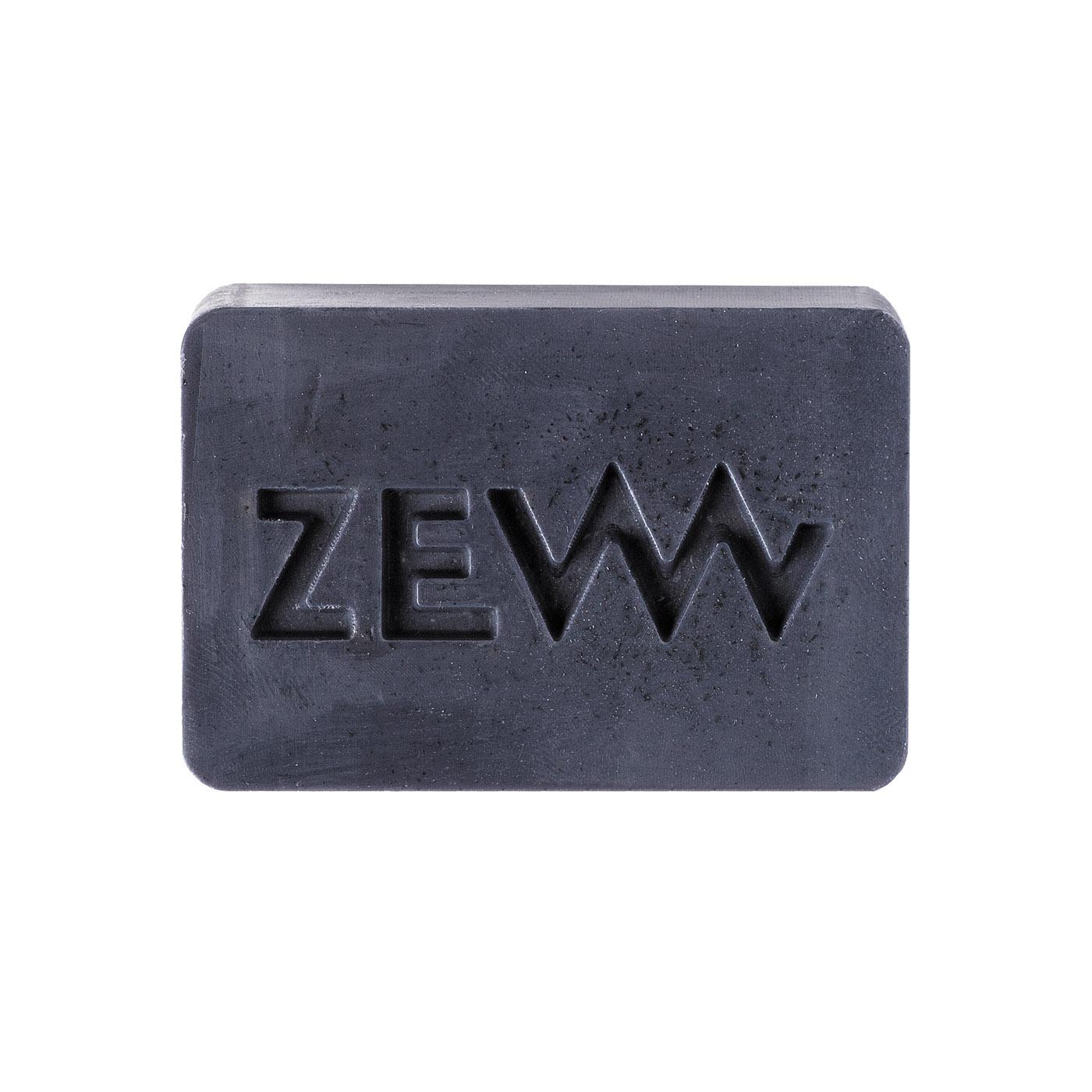 ZEW for men Beard Soap - mydlo na bradu s dreveným uhlím, 85 ml + vrecko M