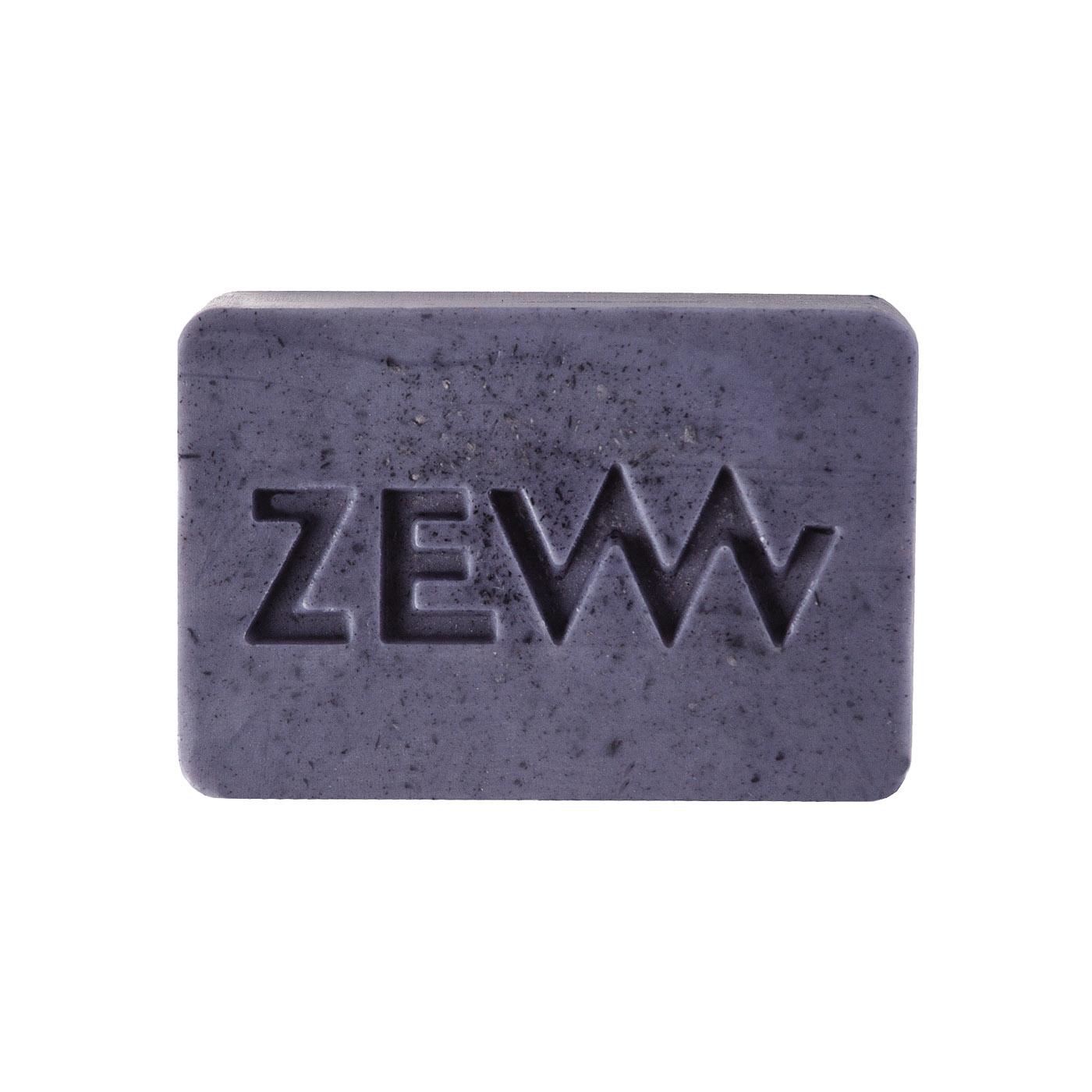ZEW for men Shaving Soap - mýdlo na holení s dřevěným uhlím, 85 ml + Kapsa M