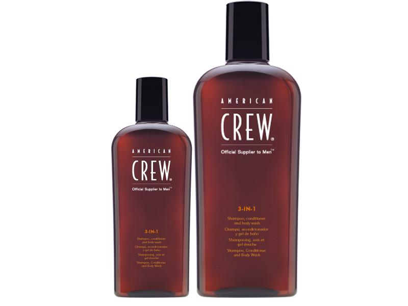 American Crew CLASSIC 3-in-1 - šampón, kondicionér a sprchový gél v jednom